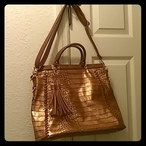 Steve Harvey Large Tassel Tote Bag